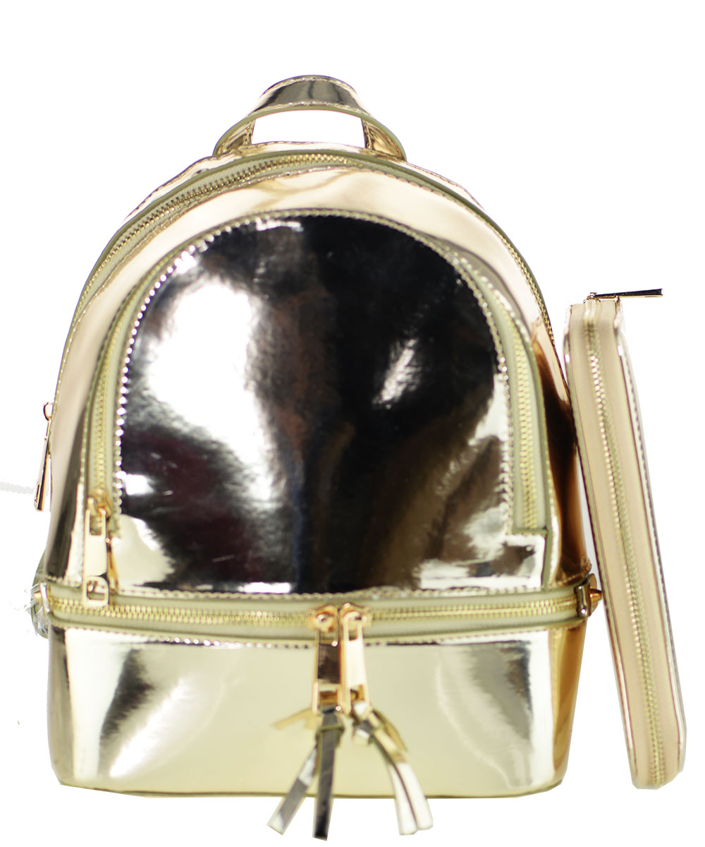 4000b7b428 Rose Gold Faux Leather Backpack- Fenix Toulouse Handball