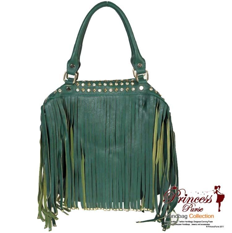 designer inspired handbags bivk  Designer Inspired Faux Leather Handbag w/ Shredded Leather Accent and  Rhinestone Decor