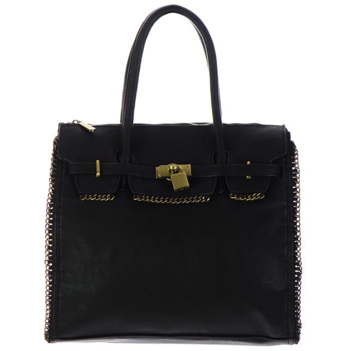 d115c4c9aeb Original David Jones Handbag w  Locket Accent 26838 - Black