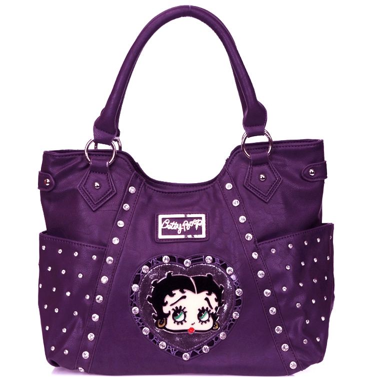 cacfecc2567d Original Betty Boop Handbag w  Rhinestone Decor  Wholesale Handbags ...