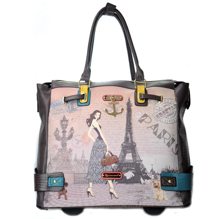 Brentano DR5925 Paris Fashion Girl Luggage - Brown