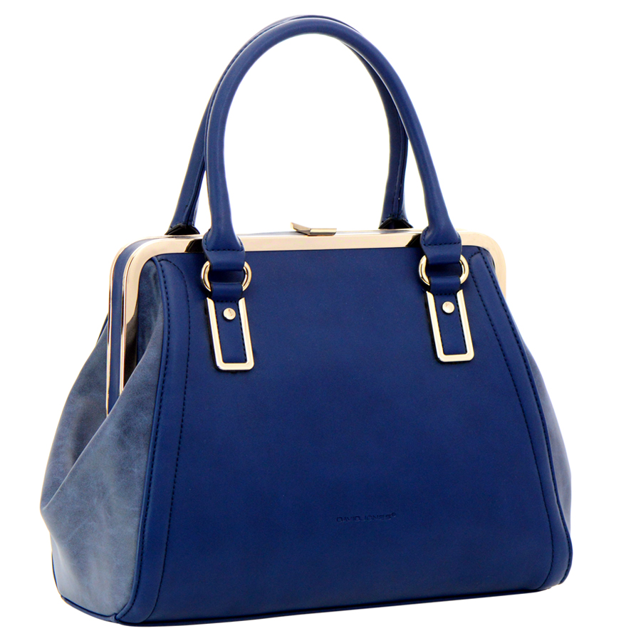 David Jones Faux Leather Handbag 34913 - Blue