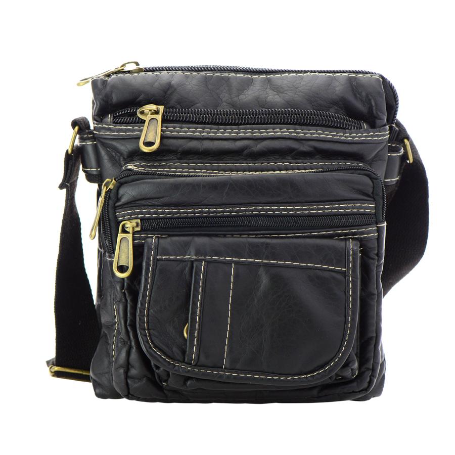faux leather crossbody bag 35649 black