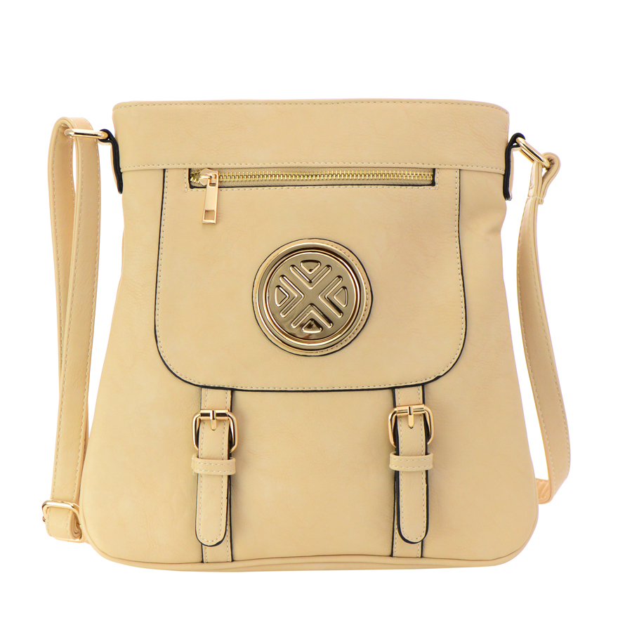 faux leather crossbody bag 35929 beige