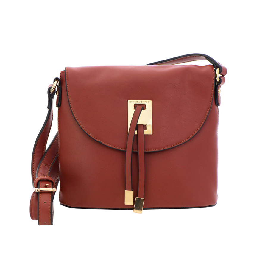 david jones faux leather crossbody bag 36130 cognac