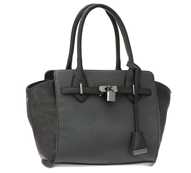 4187b26873fa David Jones Faux Leather Shoulder Hand Bag 39001 37480 Dark Grey