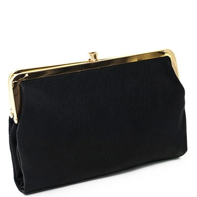 Urban Expressions Faux Leather Wallet  Metal hardware Complements Classic Style 7287A-UR   BLACK