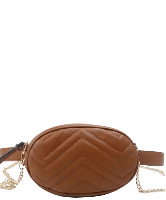 Designer Trendy Cross Body Waist Bag  N0633 BROWN
