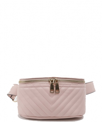 Designer Trendy Cross Body Waist Bag  N0650 PINK