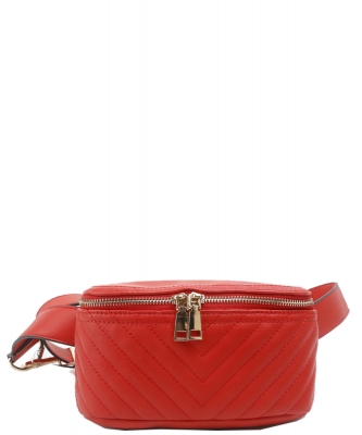 Designer Trendy Cross Body Waist Bag  N0650 RED