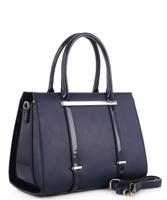 Guinness Patent Leather Bag US3123 NAVY
