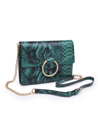 Urban Expression Ella Pebbled Vegan Leather 21088 EMERALD