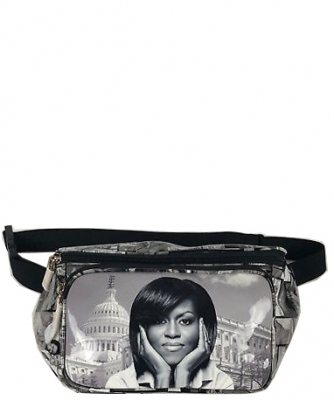 Michelle Obama Magazine Style Fanny Pack NEW Edition 28-PP3260 BLACK