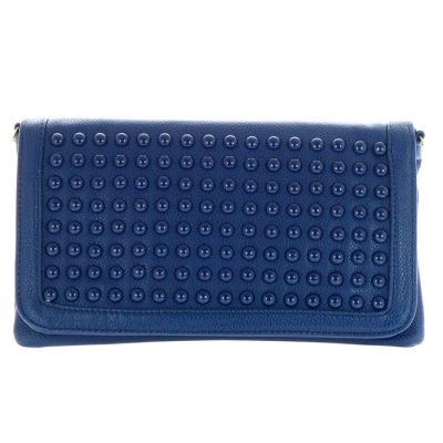 Textured Studs Large Clutch PP 30221 BLUE