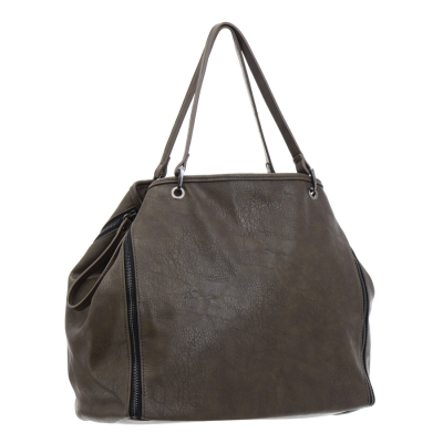 Urban Expressions Private Party Vegan Leather Handbag 35729 - Charcoal