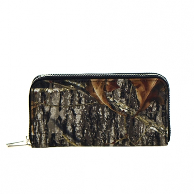 Leaves Print Patent Leather Wallet  Mt-106W 36104 -Coffee