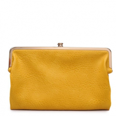 Urban Expressions Faux Leather Wallet  Metal hardware Complements Classic Style 7287A-UR  37190 Mustard