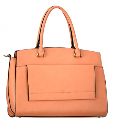Faux Leather  Shoulder Hand Bag MY6194 37825 Peach