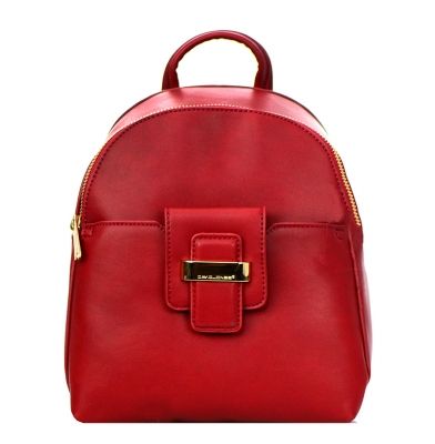 David Jones Faux Leather Backpack 52033 38248 Bordeaux