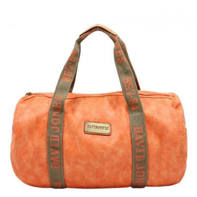 David Jones Faux Leather Travel Duffle Bag CM0045 38426 Orange