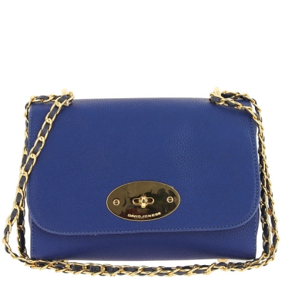 David Jones Messenger Shoulder Bag 52602 38434 blue