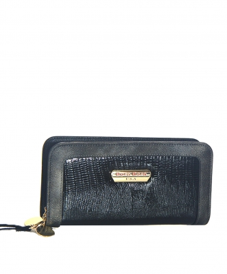 Animal Skin Wallet Faux Leather BB104 38916 Black