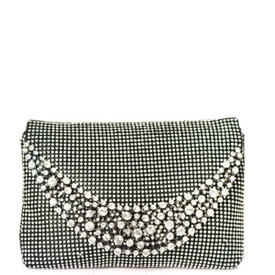 Rhinestone Clutch Purse 0003 39300 Black