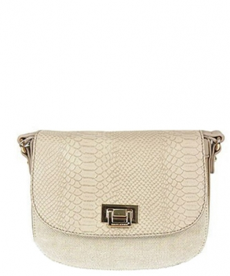 David Jones Faux Leather Crossbody Handbag 5542-1 39391 Beige
