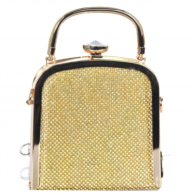 Rhinestone Clutch Purse Bv-104 39518 Gold