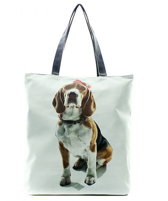 Doggy Pink Bow Totes HandBag FC0020-9 39923