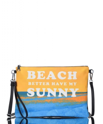 Large Clutch Design Beach Canvas Classic Style Bgs-15951 39939 Yellow