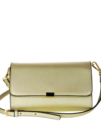 Designed Faux Leather Clutch K050 NC CROSS BODY PURSE GOLD