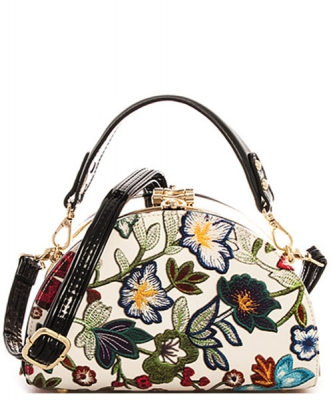 Fashion flower Half Moon Satchel PR LE6431
