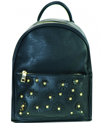 Zipper Pocket Flower Medium Fashion Backpack 87339