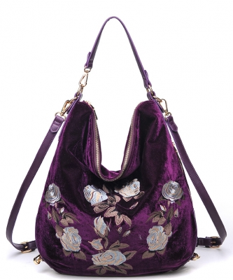Urban Expressions Embroidered Roses Fashion Handbags 14593 bolivia