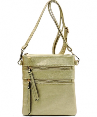 Functional Multi Pocket Crossbody Bag 80808A GOLD