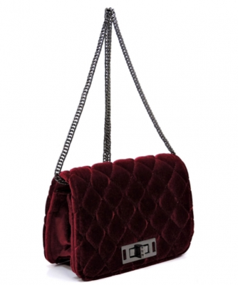 Quilted Velvet Cute Mini Crossbody Satchel 87410