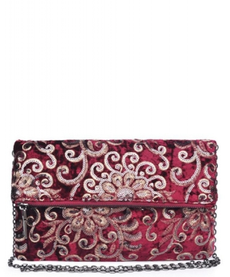 Urban Expression Rhapsody Clutch Embroidered Velvet 15360