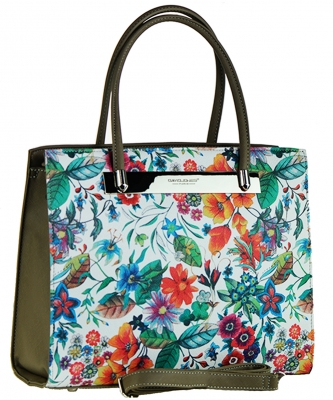 Flower David Jones Tote handbag 57382  SAND