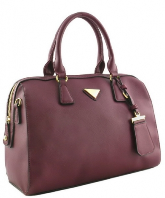 Triangle Charm & Fashion HandBag OCK62110 WINE