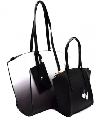 3 in 1 Shopper Tote SET EJ1294 BLACK