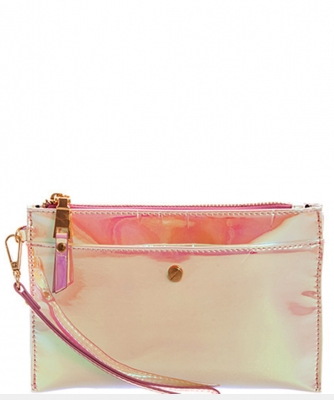 Glossy Chic Clutch With Wristlet CLS0746