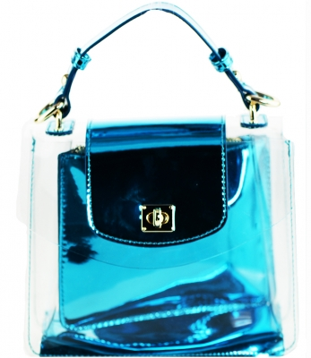 2 in 1 One Mini shoulder bag, One small zipper bag ES2225 TURQUISE