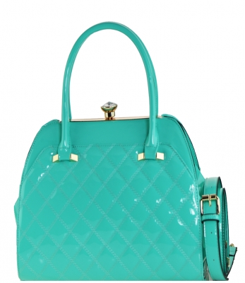 Fashion Women Bags Shoulder Bag Patent Leather Totes Crossbody Handbags L0762 GREEN