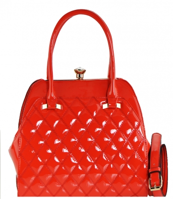 Fashion Women Bags Shoulder Bag Patent Leather Totes Crossbody Handbags L0762 RED