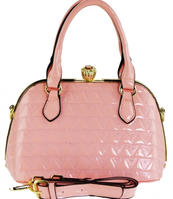 Fashion Mini Women Bags Shoulder Bag Patent Leather Totes Crossbody Handbags N0369 PINK