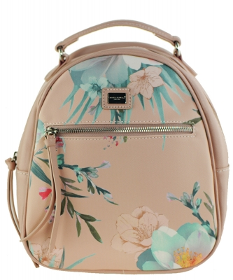 David Jones Faux Leather MINI Flower Backpack 57332 PINK