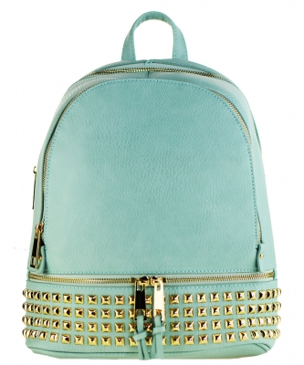 Trendy Wholesale Fashion Back Pack with studs LS1239A LGREEN