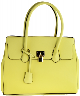 Women Fashion PU Leather Shoulder Bags Top-Handle Handbag Tote Bag Purse PRL0915 YELLOW