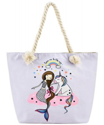 Designer Mermaid Canvas Tote Bag FC00633